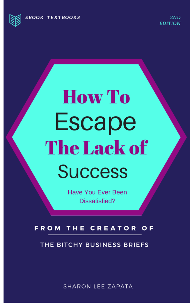 ebook cover good one How to Escape the Lack of Success